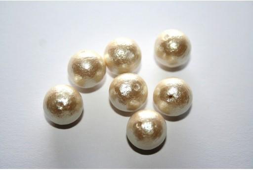 Cotton Pearls Miyuki Cream 10mm - 10pz