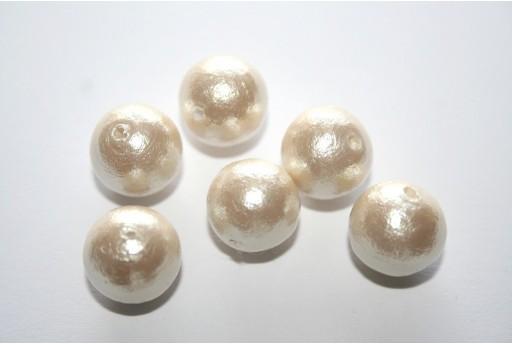 Cotton Pearls Miyuki Cream 12mm - 5pz