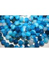 Filo Agata Striata Blue Sfera 14mm AG19