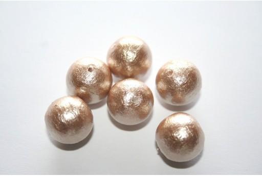 Cotton Pearls Miyuki Beige 12mm - 5pz
