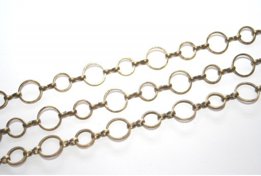 Platinum Plated Chain Bronze 8-10mm - 20cm