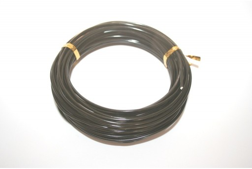 Aluminium Wire 2mm Black - 10m