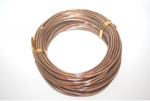 Aluminium Wire 2mm Brown - 10m