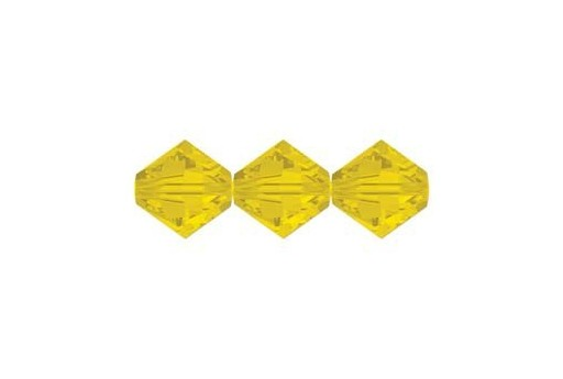 Bicono Swarovski 5328 Yellow Opal 3mm - 20pz