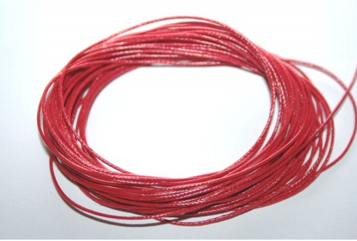 Dark Red Waxed Polyester Cord 0,5mm - 12mt
