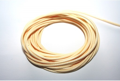 Cream Waxed Polyester Cord 2mm - 5mt
