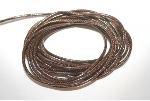 Brown Waxed Polyester Cord 2mm - 5mt