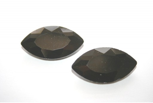 Glass Cabochon Crystal Black 17x32mm - 1pz
