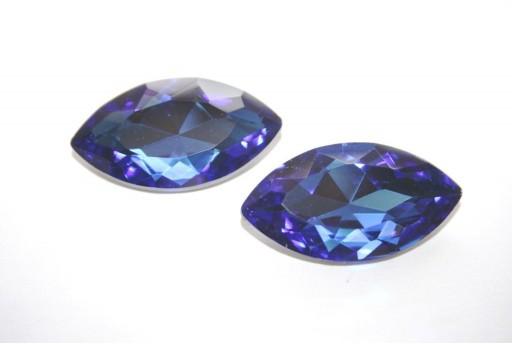 Glass Cabochon Sapphire 17x32mm - 1pz