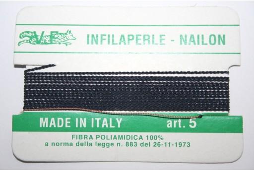 Blue Nylon Thread With Needle Size 5 - 2pcs