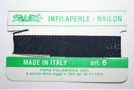 Blue Nylon Thread With Needle Size 6 - 2pcs
