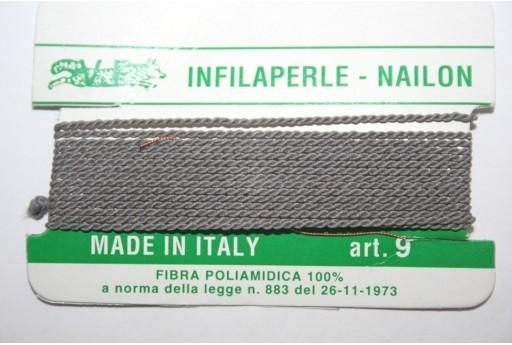 Filo Nylon Infilaperle con Ago Polvere Misura 9 - 2pz
