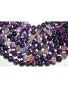 Agate Beads Veined Purple Sphere 14mm - 2pz