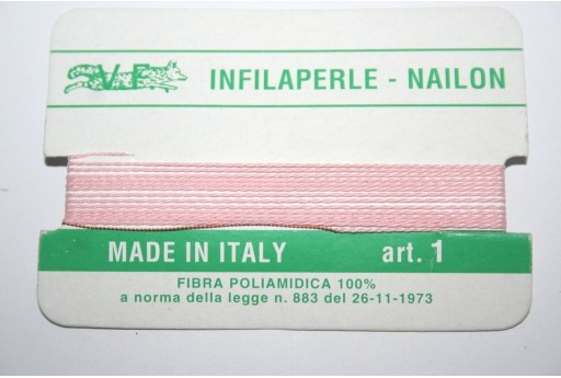 Pink Nylon Thread With Needle Size 1 - 2pcs