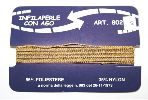 Gold Nylon Thread With Needle Size S - 2pcs