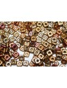 Perline Quad® -Bead Metallic Mix 4mm - 5gr