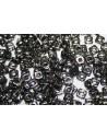 Perline Quad® -Bead Jet Antique Chrome 4mm - 5gr