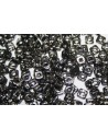 Quad® -Beads Jet Antique Chrome 4mm - 5gr
