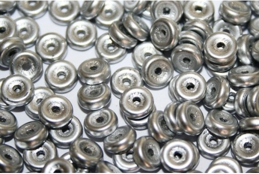 Wheel Beads Aluminium Silver 6mm - 10gr