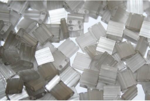 Miyuki Tila Beads Silk Pale Grey 5mm - 5gr