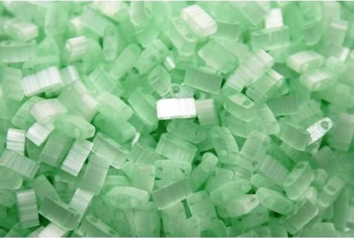 Miyuki Half Tila Beads Silk Pale Green 2,5x5mm - 5gr