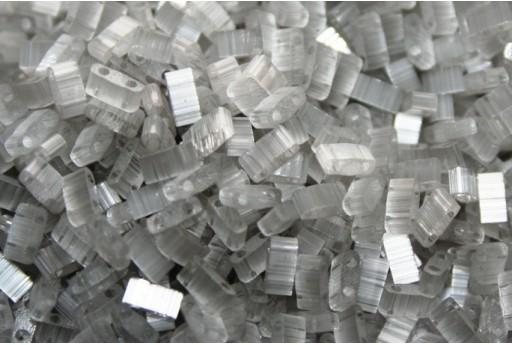 Miyuki Half Tila Beads Silk Pale Grey 2,5x5mm - 5gr