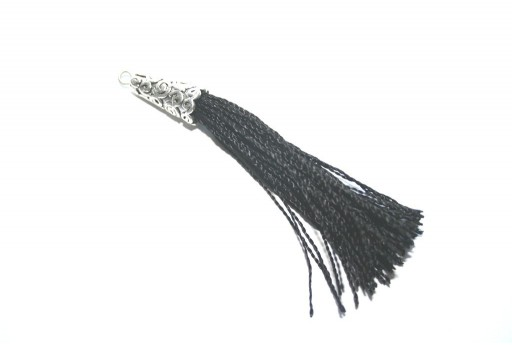 Polyester Tassel Black 9x75mm - 1pc