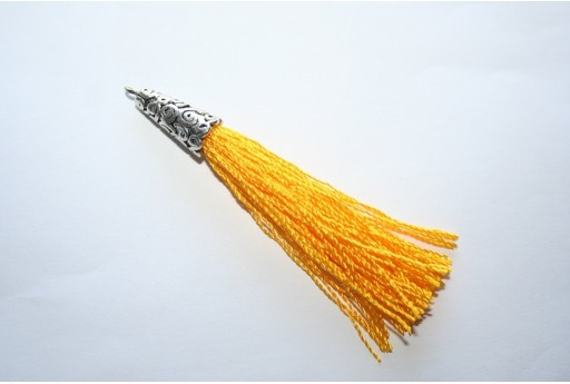Polyester Tassel Yellow 9x75mm - 1pc
