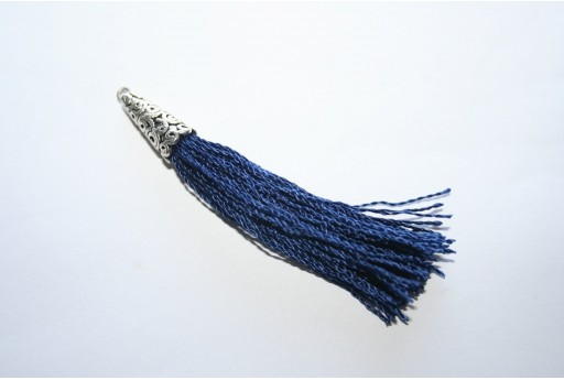 Polyester Tassel Blue 9x75mm - 1pc