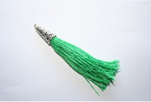 Polyester Tassel Green 9x75mm - 1pc