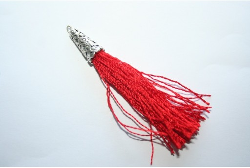 Polyester Tassel Red 9x75mm - 1pc