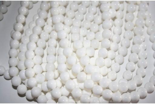 Filo 48 Pietre Shell Bianco Sfera 8mm SH8