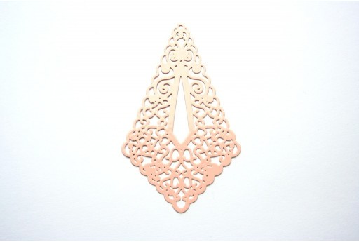 Salmon Laser Cut Filigree - Diamond 73x45mm