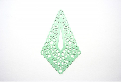 Green Laser Cut Filigree - Diamond 73x45mm