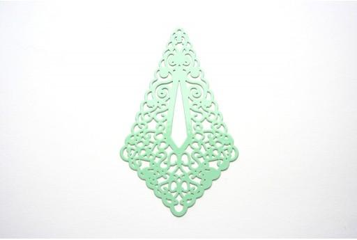 Green Laser Cut Filigree - Diamond 73x45mm