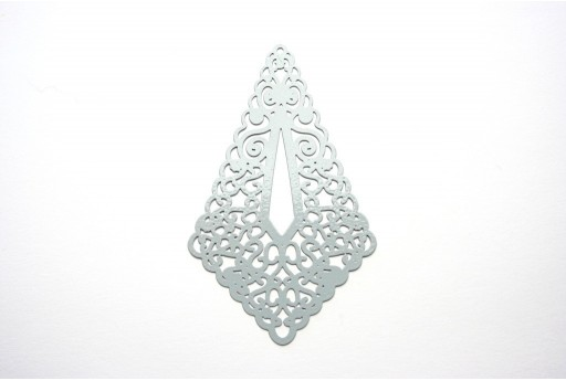 Grey Laser Cut Filigree - Diamond 73x45mm