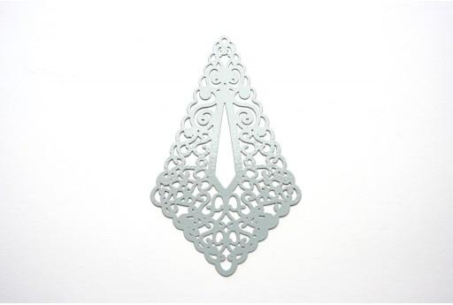 Grey Laser Cut Filigree - Diamond 73x45mm