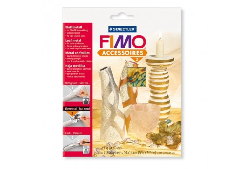 Fimo - Multicolor Leaf Metal