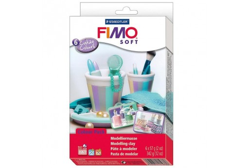 Fimo Soft Set Candy Colours - Colori Candy - 6 Colori