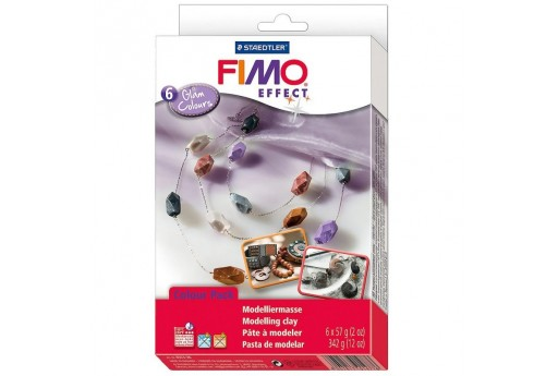 Fimo Effect Set Glam Colours - Colori Glam - 6 Colori