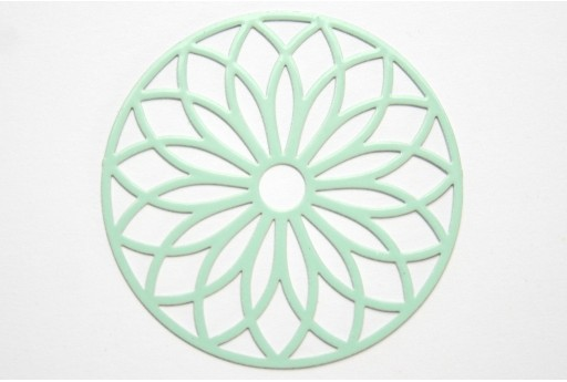 Green Laser Cut Filigree - Round 43mm - 1pcs