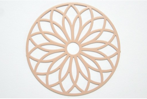 Beige Laser Cut Filigree - Round 43mm - 1pcs