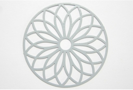 Grey Laser Cut Filigree - Round 43mm - 1pcs
