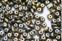 Perline Superduo Tweedy Gold 5x2,5mm - 10gr