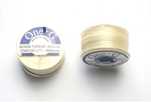 Toho One-G Nylon Thread 0,20mm Cream 46m