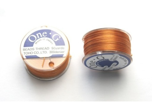 Toho One-G Nylon Thread 0,20mm Orange 46m