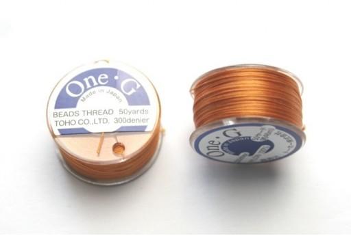 Toho One-G Nylon Thread 0,20mm Orange 46m