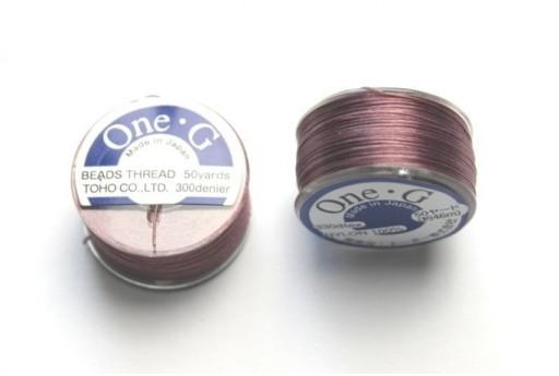 Toho One-G Nylon Thread 0,20mm Dark Purple 46m