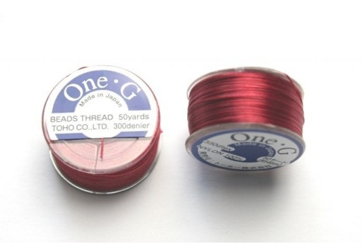 Toho One-G Nylon Thread 0,20mm Red 46m