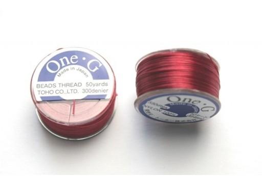 Toho One-G Nylon Thread 0,20mm Red 46m